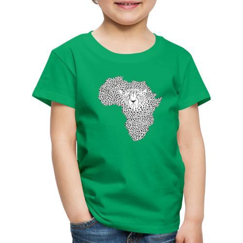 Symbol Africa in cheetah camouflage - Kinder Premium T-Shirt