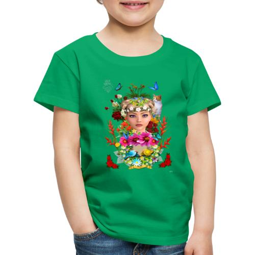 Lady spring by t-shirt chic et choc (dark & black) - T-shirt Premium Enfant