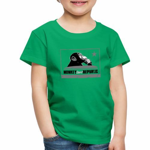 Monkey Surf Republic Flag - Kids' Premium T-Shirt
