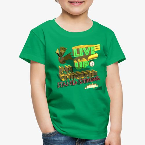 live up JAH children (Kansidah 3D) - Kinder Premium T-Shirt