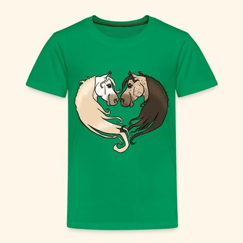 Chevaux amoureux gris-gris - T-shirt Premium Enfant
