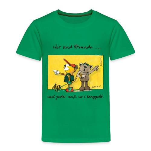 Janoschs 'Wir sind Freunde, weil jeder weiß ...' - Kinder Premium T-Shirt