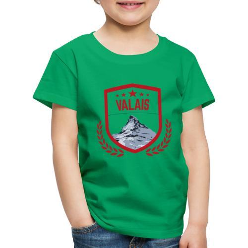 Walliser Logo mit dem Matterhorn - Kinder Premium T-Shirt