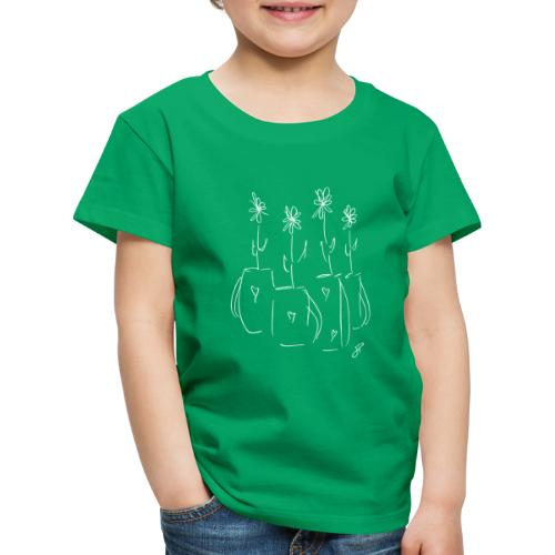 John's Flowers in White - Kids' Premium T-Shirt