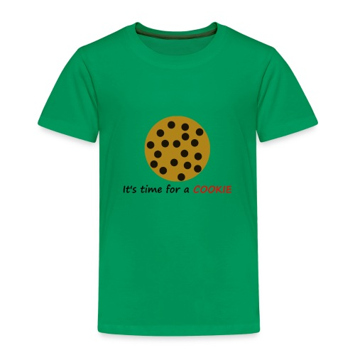 Its time for a Cookie Design SchwarzRot - Kinder Premium T-Shirt