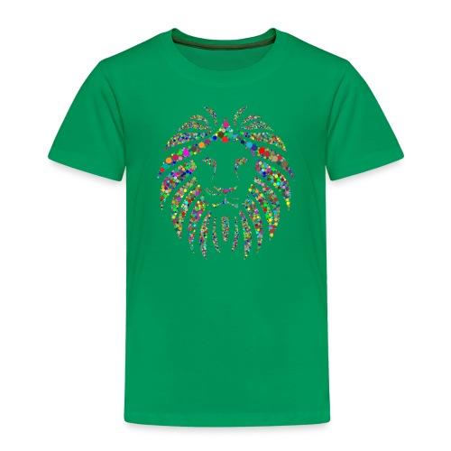 Löwe farbig modern cool - Kinder Premium T-Shirt