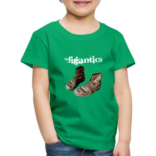 The Jigantics boot logo - white - Kids' Premium T-Shirt