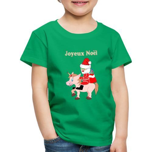 Le père Noël et la licorne - T-shirt Premium Enfant