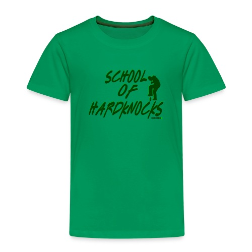 school of hardknocks ver 0 2 green - Børne premium T-shirt