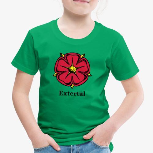 Lippische Rose mit Unterschrift Extertal - Kinder Premium T-Shirt