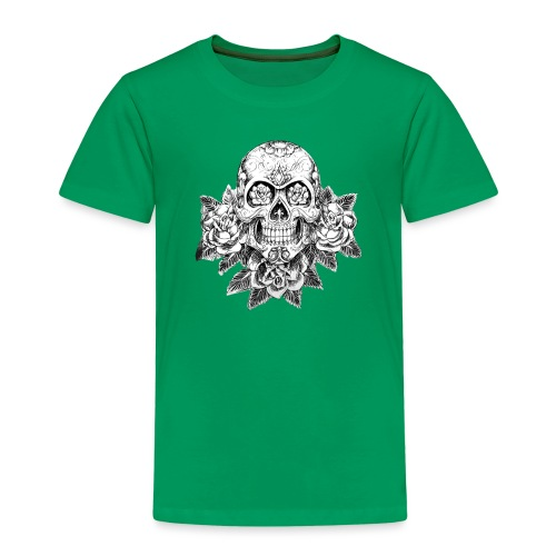 Tribal Skull - Maglietta Premium per bambini