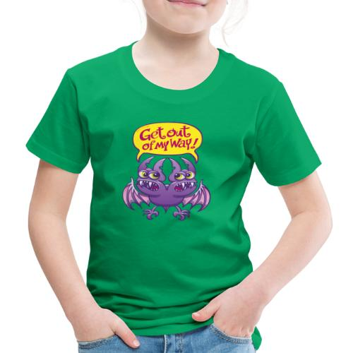Get out of my way two-headed bat - Kids' Premium T-Shirt