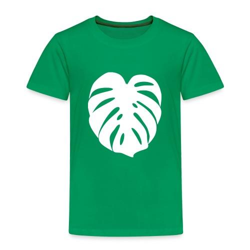 Monstera - Feuille blanche - T-shirt Premium Enfant