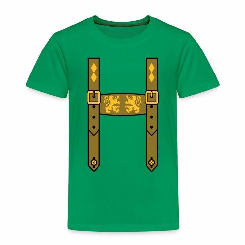Lederhose Bayern Löwen Wappentiere - Kinder Premium T-Shirt