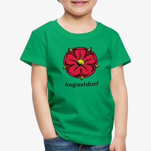 Lippische Rose mit Unterschrift Augustdorf - Kinder Premium T-Shirt