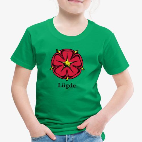 Lippische Rose mit Unterschrift Lügde - Kinder Premium T-Shirt