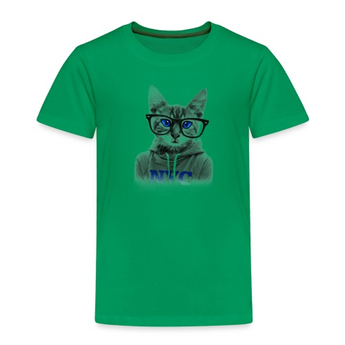 Nerdy Cat - Kinder Premium T-Shirt