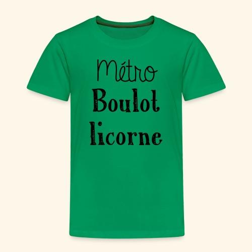 metro boulot licorne - T-shirt Premium Enfant