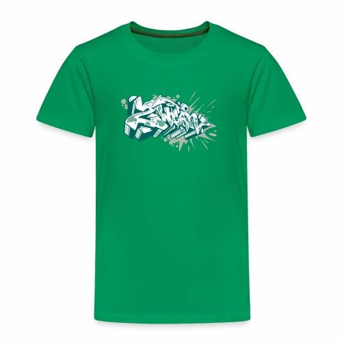 Dae 2Wear graffiti style ver2 Green edt - Børne premium T-shirt