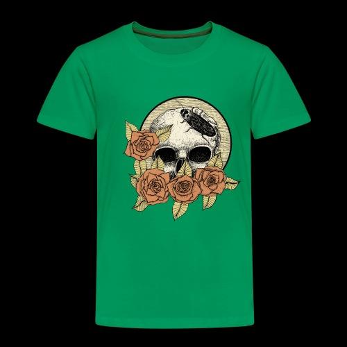 Rose et tête de mort - T-shirt Premium Enfant