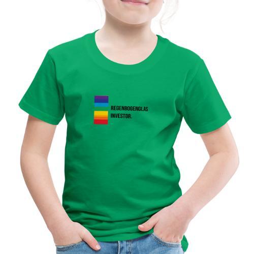 Regenbogen-Glas-Investor Meme schwarz - Kinder Premium T-Shirt