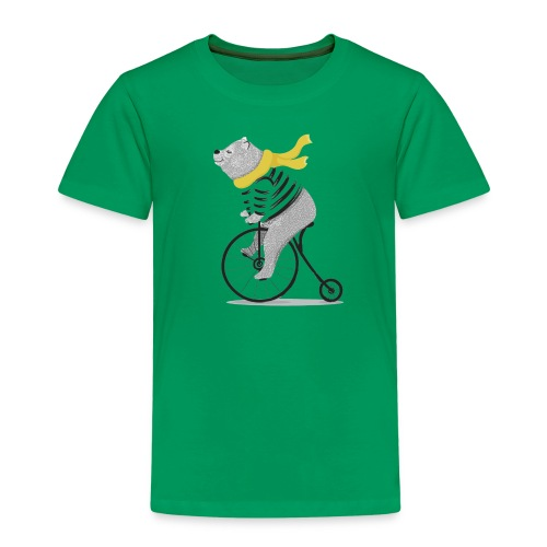 Einrad Bär - Kinder Premium T-Shirt