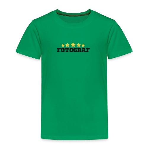 Wort Fotograf und fünf Sterne in gold - Kinder Premium T-Shirt