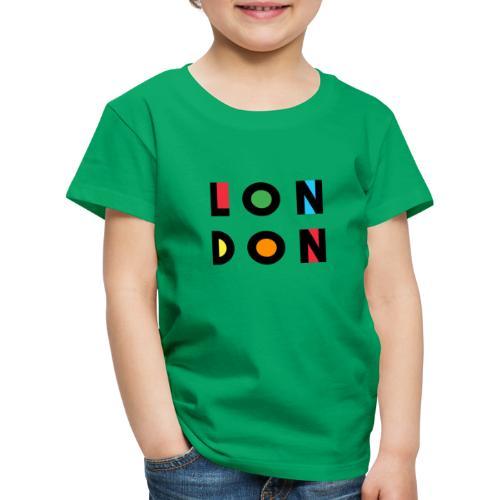 Vintage London Souvenir - Retro Modern Art London - Kinder Premium T-Shirt