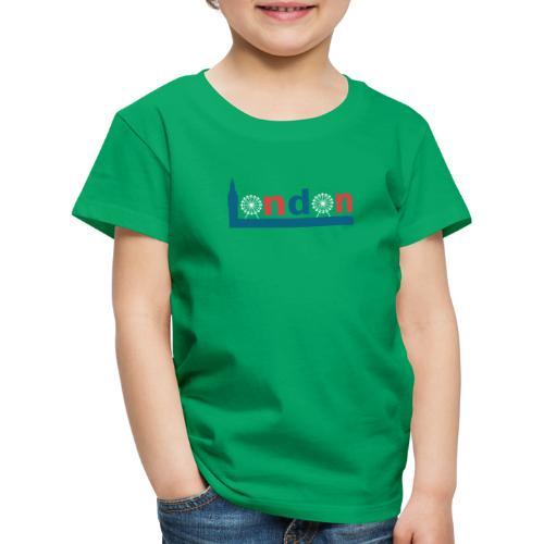 London Souvenir - Text London Sehenswürdigkeiten - Kinder Premium T-Shirt