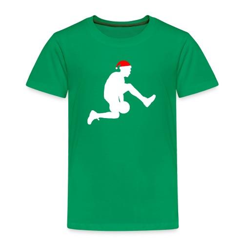 Basketball Silouette Christmas - Kids' Premium T-Shirt