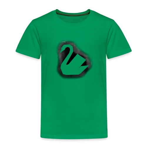 Schwan Stencil - Kinder Premium T-Shirt