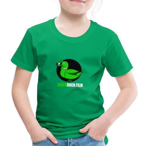 Greenduck Film white letters logo - Børne premium T-shirt