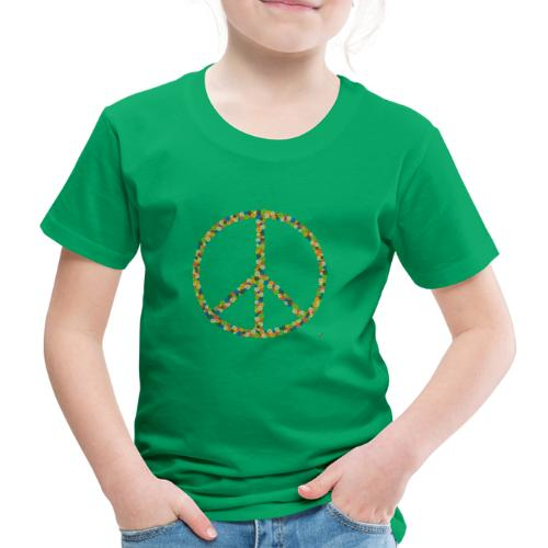 Peace Flowers - Kinder Premium T-Shirt