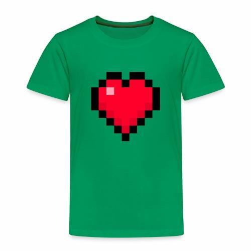 Cuore di pixel - Maglietta Premium per bambini