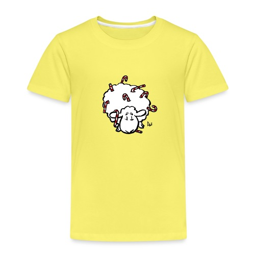 Candy Cane Sheep - Kids' Premium T-Shirt