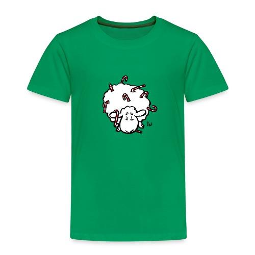 Candy Cane Sheep - Kids' Premium T-Shirt