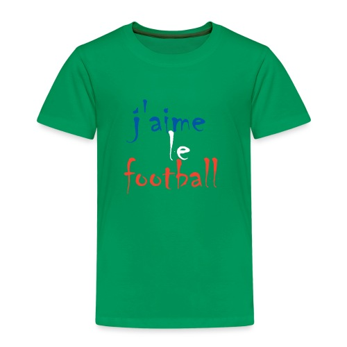 j' aime le football - Kinder Premium T-Shirt