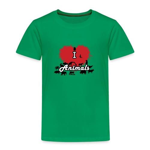 I Love Animals - Maglietta Premium per bambini