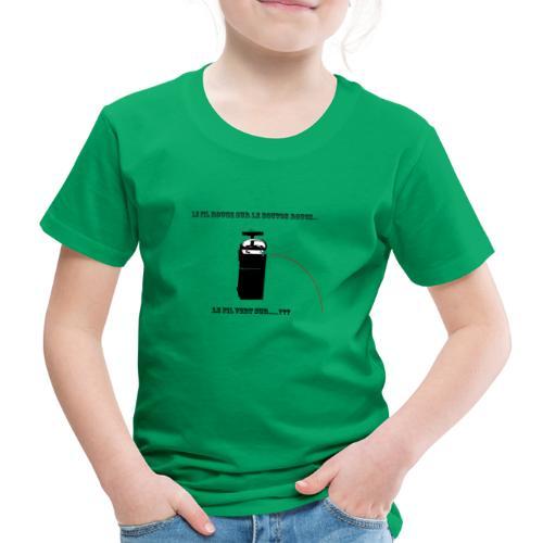 le fil rouge sur le bouton rouge - T-shirt Premium Enfant