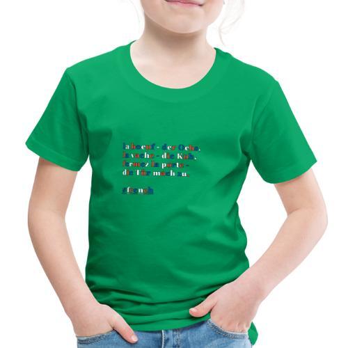 französische Merkhilfe/Eselsbrücke - Kinder Premium T-Shirt
