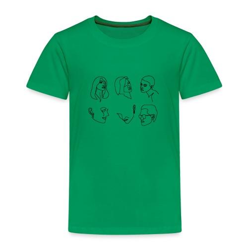 lineart gesichter - Kinder Premium T-Shirt