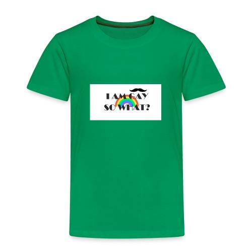 i am gay so what? - Premium T-skjorte for barn