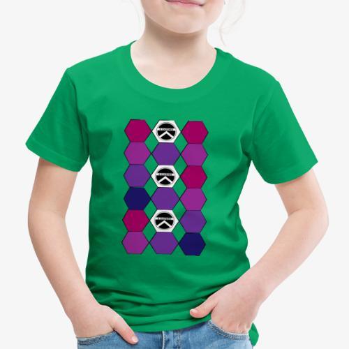  K·CLOTHES  HEXAGON ESSENCE PURPLES & WHITE - Camiseta premium niño