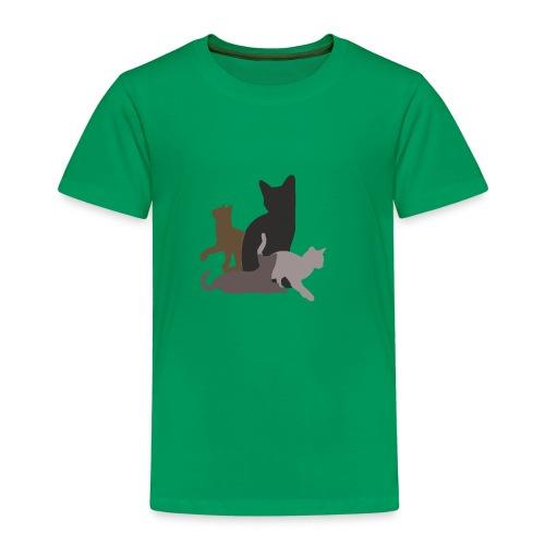 vier Katzen dunkel - Kinder Premium T-Shirt