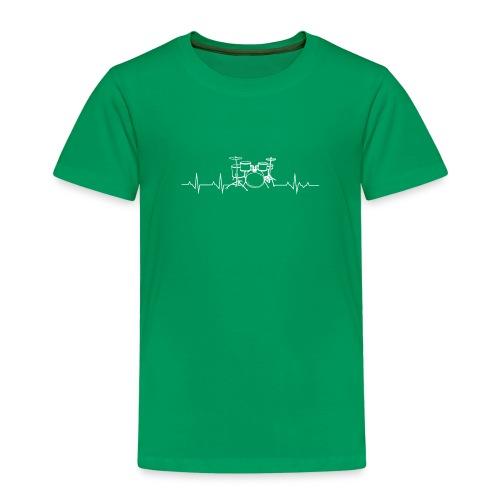 Drums Heartbeat Funny drummer - T-shirt Premium Enfant