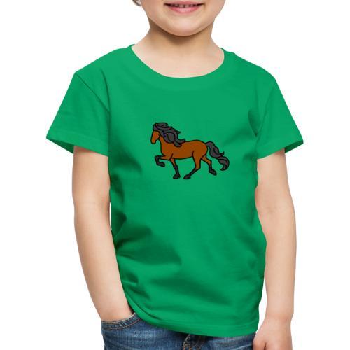 Islandpferd, Brauner, heller - Kinder Premium T-Shirt