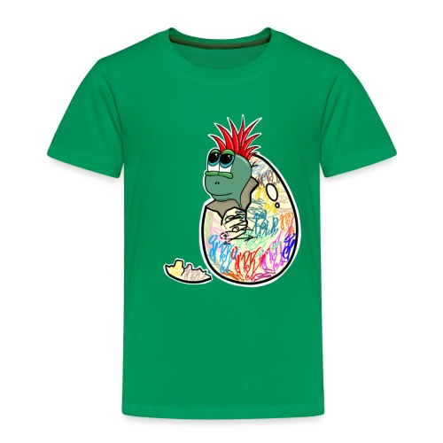 Punk Graffiti Bebe Schildkröte / Baby Dino Turtle - Kinder Premium T-Shirt