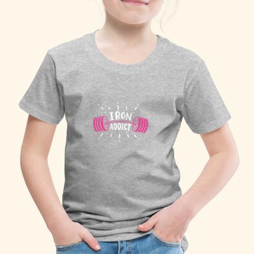 VSK Lustiges GYM Shirt Iron Addict - Kinder Premium T-Shirt