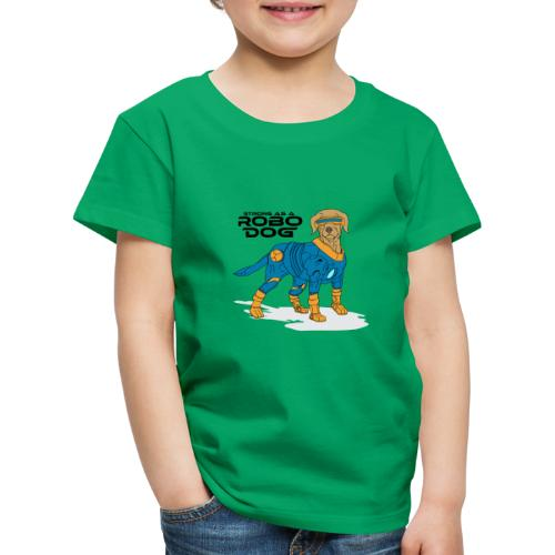 Robo dog Blau/Gold - Kinder Premium T-Shirt