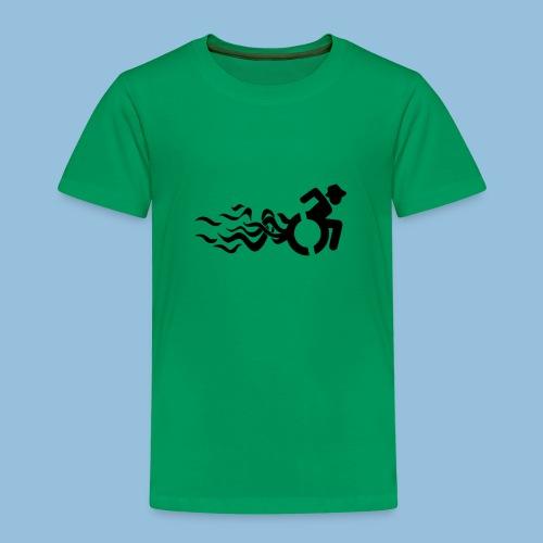 Wheelchair with flames 013 - Kinderen Premium T-shirt